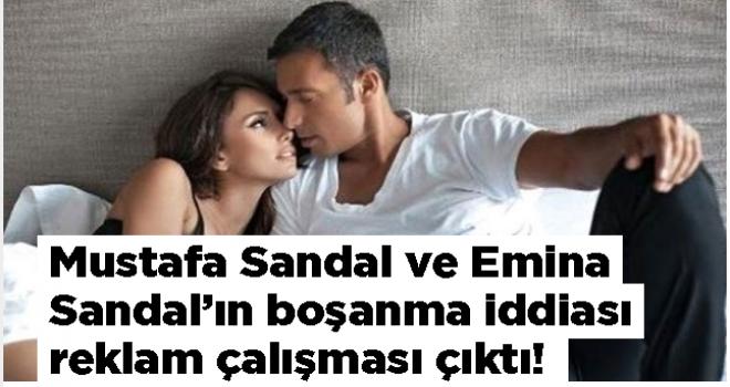 Mustafa Sandal ve Emina Sandal'ın boşanma iddiası reklam çalışması çıktı!