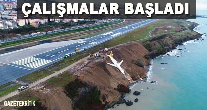 Trabzon'da uçak pistten çıktı! Kurtarma çalışmaları başladı