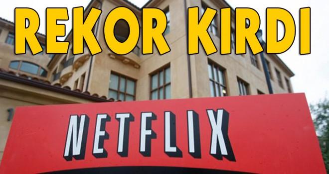 İnternet televizyon ağı Netflix rekor kırdı!