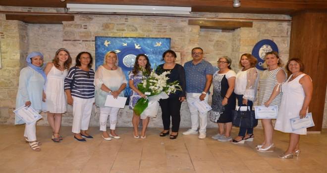Mavi Beyaz Düşler Sergisi İbramaki'de Açıldı