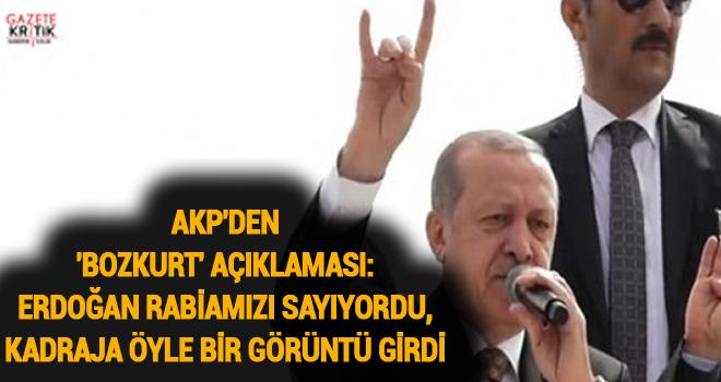 AKP'den 'bozkurt' açıklaması: Erdoğan rabiamızı sayıyordu, kadraja öyle bir görüntü girdi