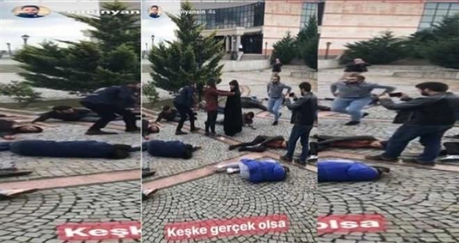 DHA muhabiri, 10 Ekim katliamı canlandırmasına