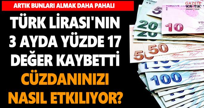 Türk Lirası'nın 3 ayda yüzde 17 değer kaybetmesi cüzdanınızı nasıl etkiliyor?