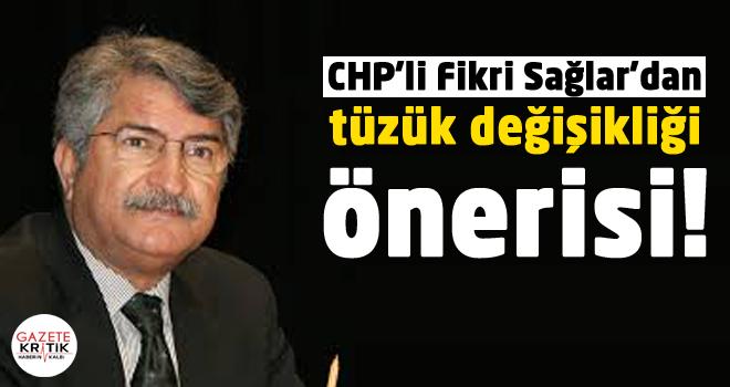 CHP'li Fikri Sağlar'dan tüzük değişikliği önerisi!