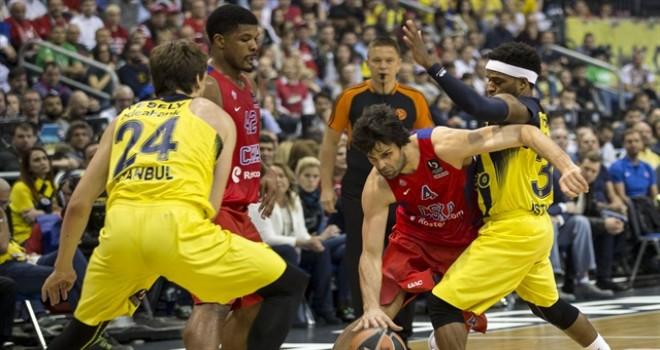 EuroLeague'de Fenerbahçe Doğuş Cska Moskova'yı 95-93 yendi