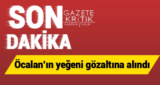Öcalan'ın yeğeni gözaltına alındı