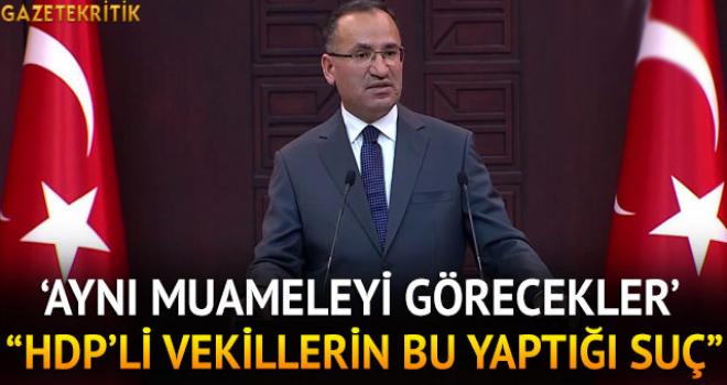 'HDP'li vekillerin bu yaptığı suç'
