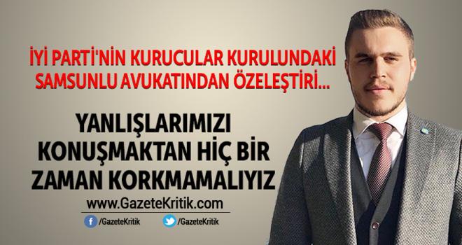 Kurucu üye Av.Oğuzhan Türk'ten İYİ Parti'ye şok uyarı!