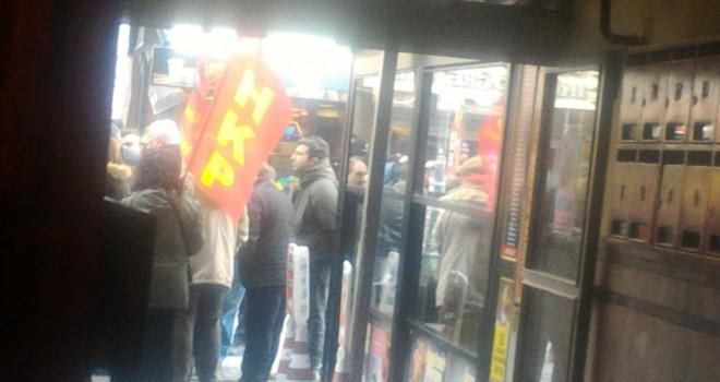 HKP Ankara Rex Tillerson eylemi polis müdehale etti parti binasından çıkışa izin verilmiyor