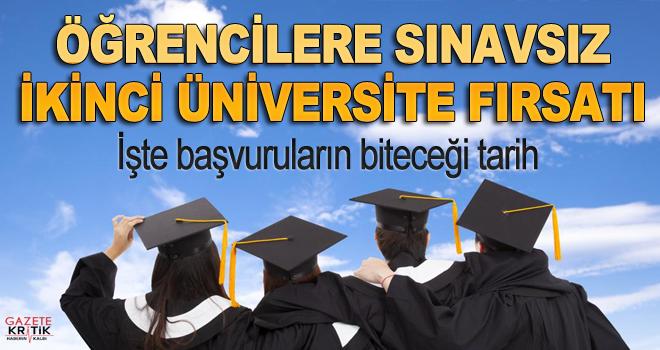 Sınavsız ikinci üniversite imkanı