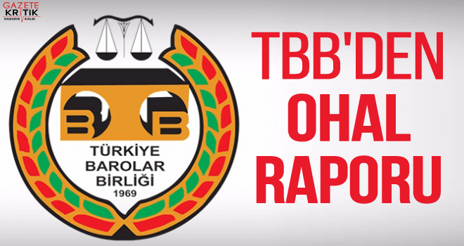 TBB'DEN OHAL RAPORU