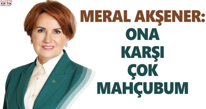 Meral Akşener'den Cevher cevheri açıklaması: Kendisine karşı çok mahcubum