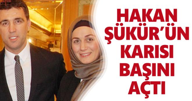 Hakan Şükür'ün tesettürlü eşi başını açtı