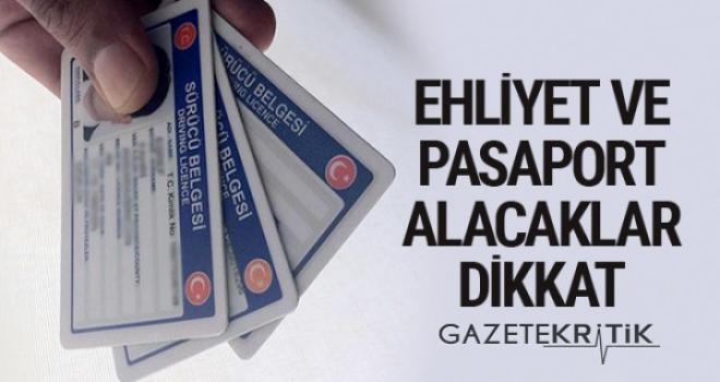 Pasaport ve ehliyet hizmetlerinin devrinde yeni gelişme