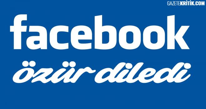 Facebook'tan 'Kudüs' özrü