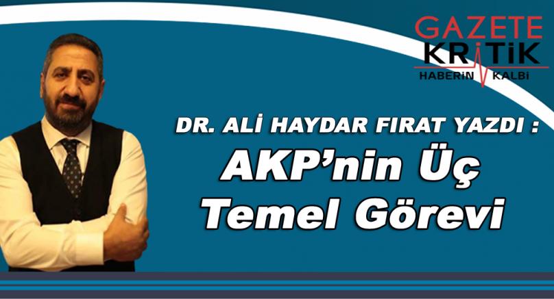 Dr. Ali Haydar Fırat yazdı:AKP'nin üç temel görevi ya da devletleşmenin zorunlu rolü