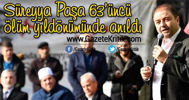 Süreyya Paşa 63'üncü ölüm yıldönümünde anıldı