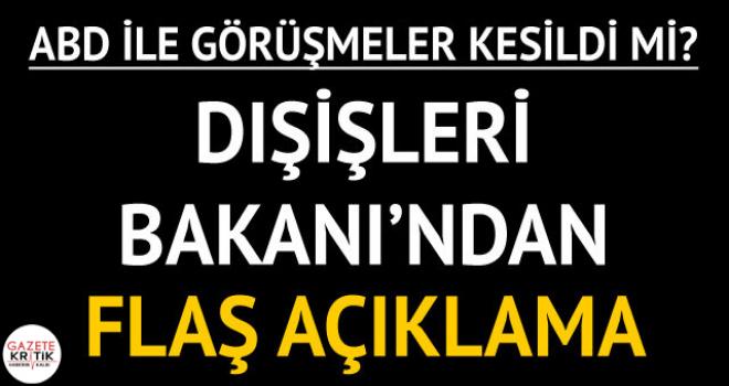 Mevlüt Çavuşoğlu'ndan son dakika Münbiç açıklaması