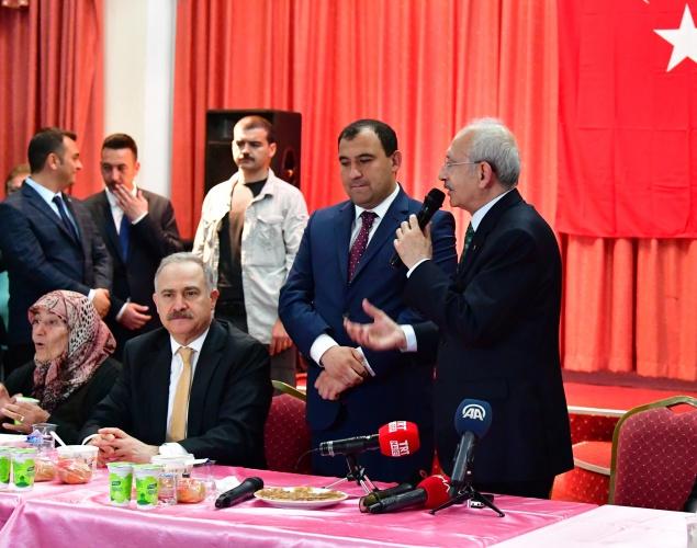 Cumhuriyet Halk Partisi Genel Başkanı Kemal Kılıçdaroğlu,Elmadağ Belediyesi'nin düzenlediği iftar programına katıldı.