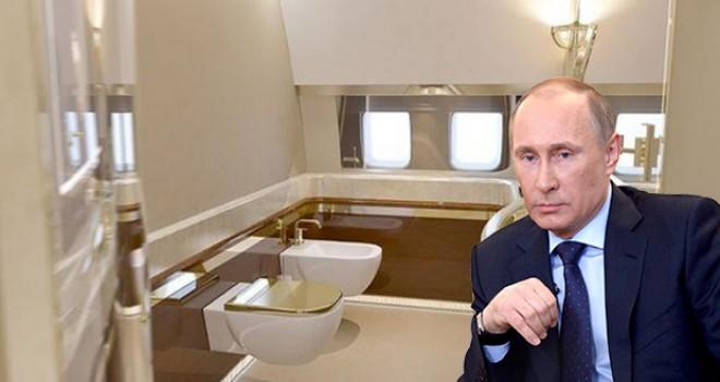 Putin'in 'uçan Kremlin'i: Tuvaleti altından