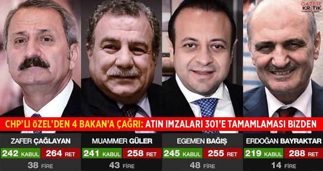 CHP'li Özel'den MHP'ye 17/25 Aralık'taki 4 bakan için çağrı