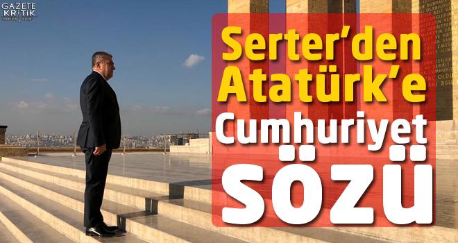 CHP'li Bedri Serter Ata'nın huzurunda