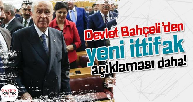 Devlet Bahçeli'den yeni ittifak açıklaması daha!