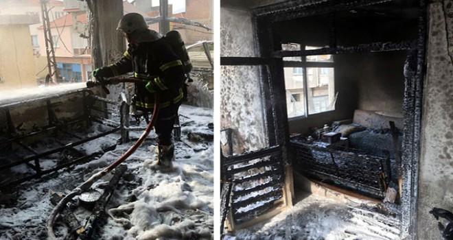 Evdeki yangında dumandan etkilenen 4 kişi hastanelik oldu