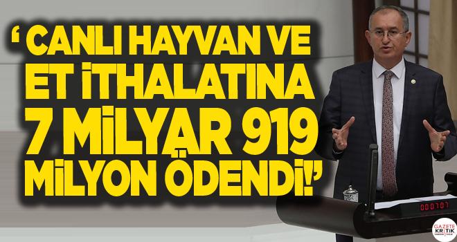 CHP'li Sertel 'Paramız varmış ki ithal etmişiz' anlayışının sonucunu açıkladı