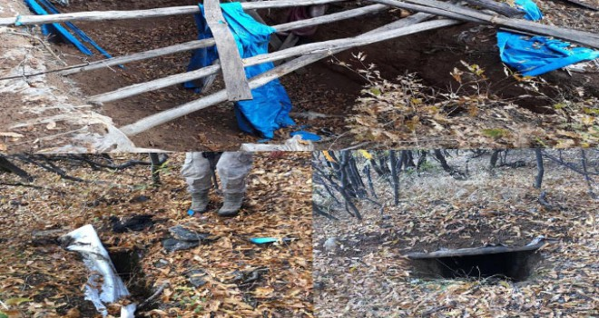 Lice kırsalında 5 odalı PKK sığınağı bulundu