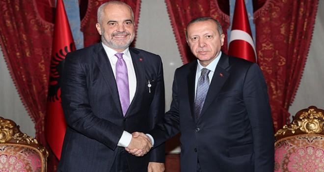 Erdoğan Arnavutluk Başbakanı'nı kabul etti