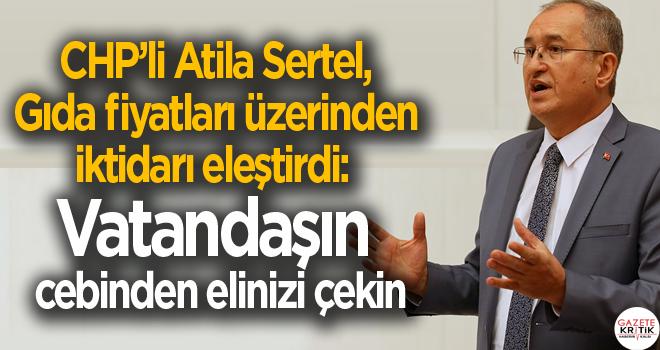 CHP'li Sertel, gıda fiyatları üzerinden iktidarı eleştirdi:  Vatandaşın cebinden elinizi çekin