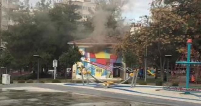Çocuk parkında trafo patladı, facianın eşiğinden dönüldü