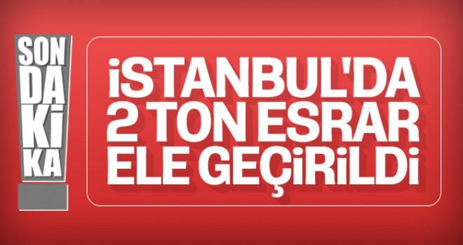 İstanbul'da 2 ton uyuşturucu yakalandı