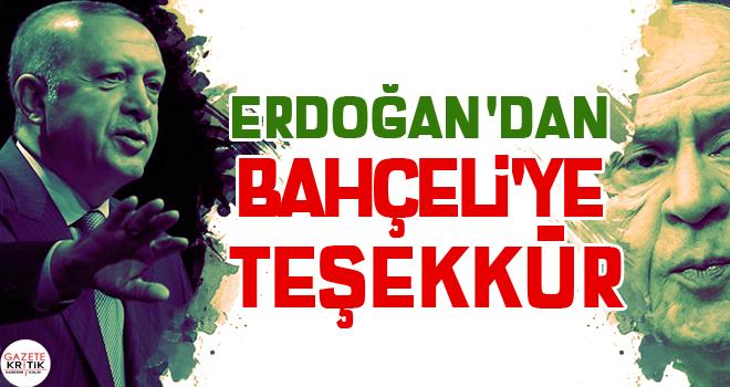 Erdoğan'dan Bahçeli'ye teşekkür