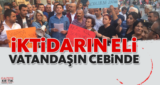 CHP BORNOVA GENÇLİK KOLLARI'NDAN AKP'YE ELEŞTİRİ BOMBARDIMANI: İKTİDARIN ELİ VATANDAŞIN CEBİNDE