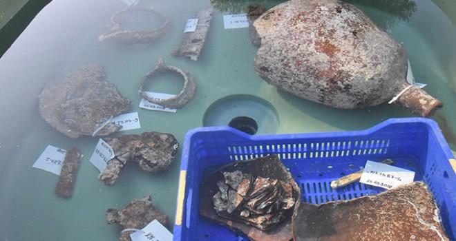 Kekova'daki su altı kurtarma kazısında çok sayıda eser çıkarıldı
