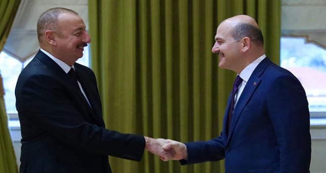 Azerbaycan Cumhurbaşkanı İlham Aliyev, İçişleri Bakanı Soylu'yu kabul etti