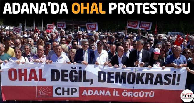 Adana'da OHAL protestosu