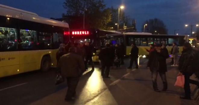 Tramvay kazası sonrası ek sefer otobüsü arızalandı