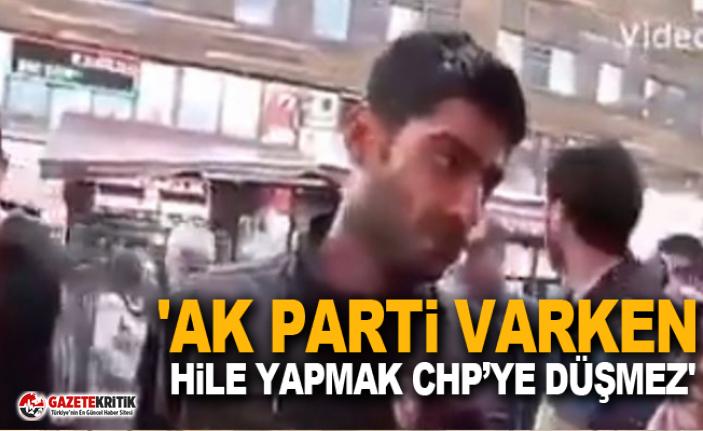 'AK Parti varken hile yapmak CHP'ye düşmez'