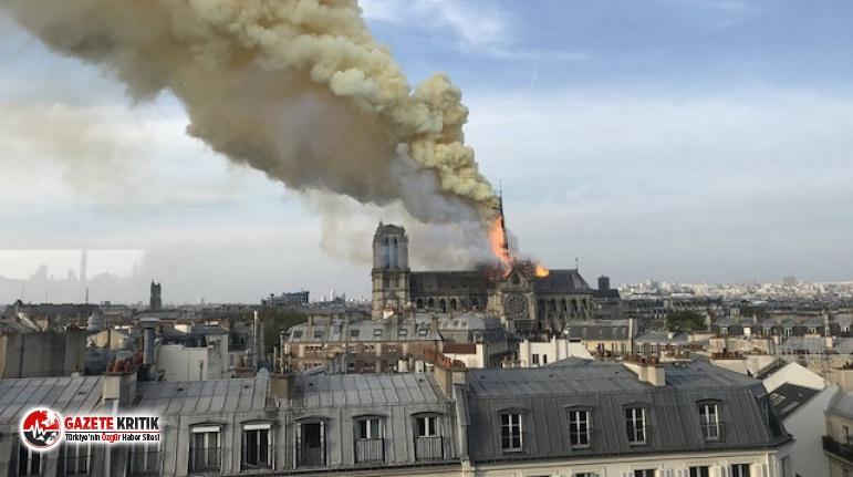 Dünyaca ünlü Notre Dame Katedrali'nde yangın çıktı