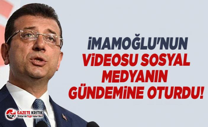 Ekrem İmamoğlu'nun videosu sosyal medyanın gündemine oturdu!