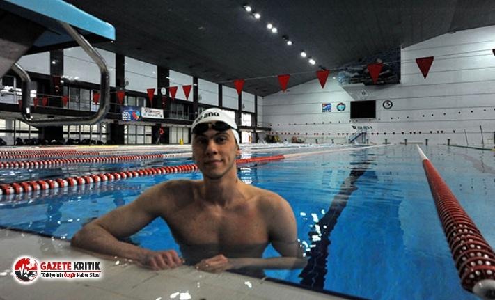 Milli yüzücü Öğretir'in olimpiyat sevinci