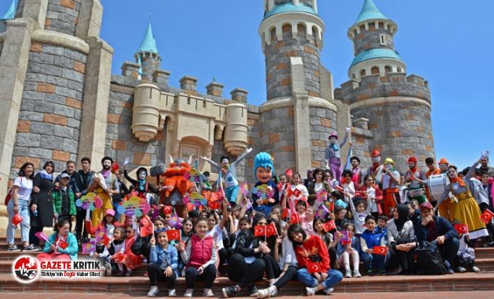 Tema Park'ın özel misafirleri 23 Nisan'ı kutladı