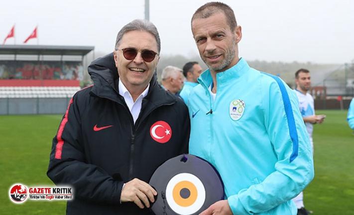 Türkiye ve Slovenya Futbol Federasyonları dostluk maçı oynadı