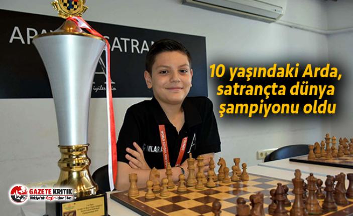10 yaşındaki Arda, satrançta dünya şampiyonu oldu