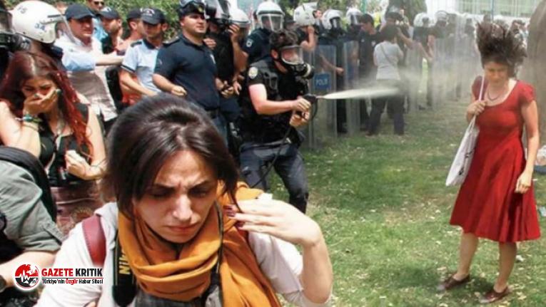 AYM, 'Kırmızılı Kadın'a biber gazı sıkılmasını 'kötü muamele' saymadı!