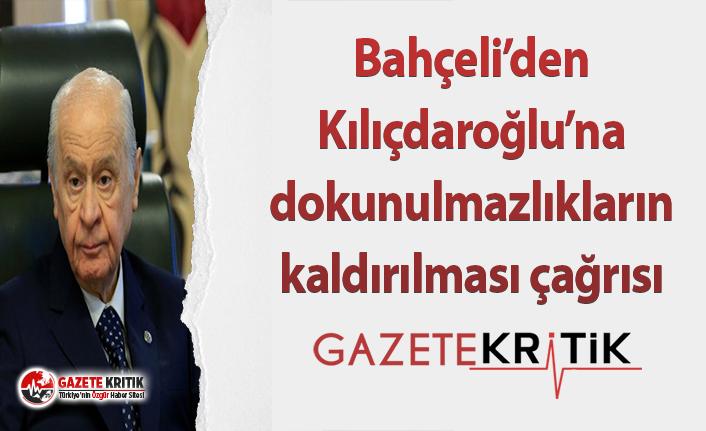Bahçeli'den Kılıçdaroğlu'na dokunulmazlıkların kaldırılması çağrısı