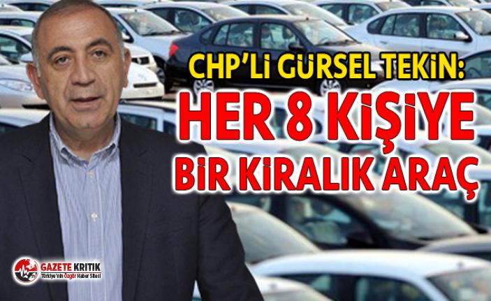 CHP'li Tekin: ''8 kişiye 1 kiralık araç düşüyor''